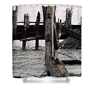 Jersey Broken Wharf II Shower Curtain