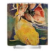 Jewels In Waters Shower Curtain