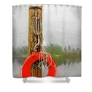 Jim Bouys Pole Shower Curtain