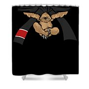 Jiu Jitsu Bjj Sloth Black Belt Light Shower Curtain