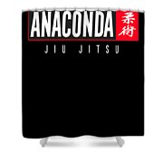 Jiu Jitsu Black Belt Anaconda Light Gift Martial Arts Bjj Shower Curtain