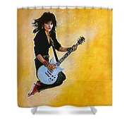 Joan Jett Shower Curtain