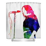 Joe Cocker Watercolor Shower Curtain