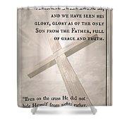 John 1 14 Shower Curtain