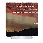 John 12 Shower Curtain