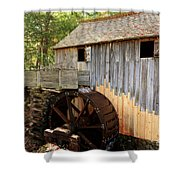 John Cable Mill In Cades Cove Historic Area In Smoky Mountains Shower Curtain