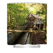 John Cable Mill In Cades Cove Historic Area In The Smoky Mountains Shower Curtain