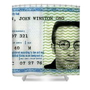 John Lennon Immigration Green Card 1976 Shower Curtain