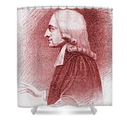 John Wesley, Anglican Minister And Christian Theologian Shower Curtain