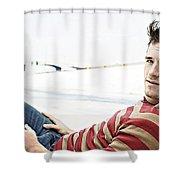 Josh Hutcherson Shower Curtain
