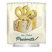 Joy, Peace And Presents Shower Curtain
