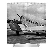 Ju-52 Taxing Shower Curtain