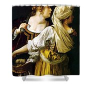 Judith And Her Maidservant 1613 Shower Curtain