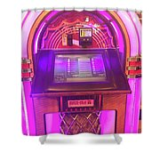 Jukebox Hero Shower Curtain