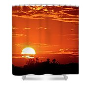 July 9-2018 Sunset  Shower Curtain