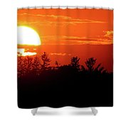 July 9-2018 Sunset Two  Shower Curtain