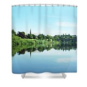 Junction Pool And View Of Tweed At Kelso Shower Curtain