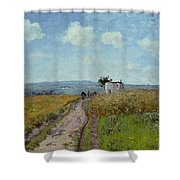 June Morning, View Over The Hills Over Pontoise, 1873 Shower Curtain