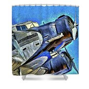 Junkers Ju 52 Art Shower Curtain