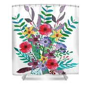 Just Flora I Shower Curtain