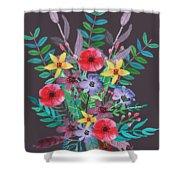 Just Flora II Shower Curtain