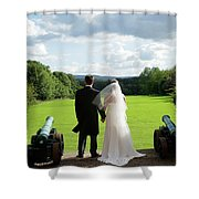 Just Married Looking To The Future Shower Curtain