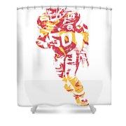 Justin Houston Kansas City Chiefs Apparel T Shirt Pixel Art 2 Shower Curtain