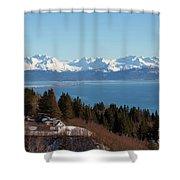 Kachemak Bay And Homer Alaska Shower Curtain
