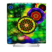 Kaleidoscope Moon For Children Gone To Soon Number - 3 Intensified  Shower Curtain