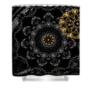 Kaleidoscope Moon For Children Gone Too Soon Number 2 - Faces And Flowers Shower Curtain
