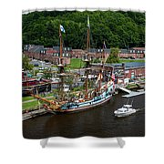 Kalmar Nyckel At Port Shower Curtain