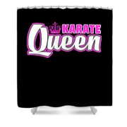 Karate Queen Cute Martial Arts Training Shower Curtain