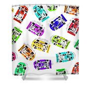 Karting Patterns Shower Curtain