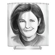 Kate Mulgrew Shower Curtain