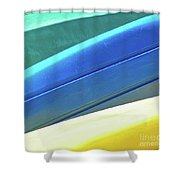 Kayak Angles And Colors Abstract II Shower Curtain