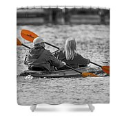 Kayaking Along The Magothy Shower Curtain