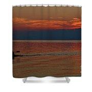 Kayak's Sunset Paradise Shower Curtain
