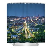 Keelung City Skyline Shower Curtain