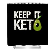 Keep It Keto Shower Curtain