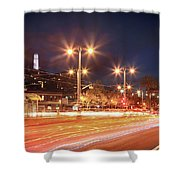 Keep On Moving Shower Curtain