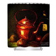 The Red Kettle Shower Curtain