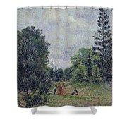 Kew Gardens, Crossroads Near The Pond, 1892 Shower Curtain
