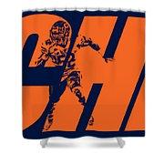 Khalil Mack Chicago Bears City Art Shower Curtain