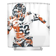 Khalil Mack Chicago Bears Pixel Art 30 Shower Curtain