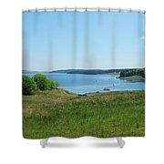 Kielder Water In Northumberland Shower Curtain