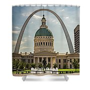 Kiener Plaza Shower Curtain by Andrea Silies