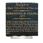 Kirkpatrick Chapel - Commemorative Plaque Shower Curtain