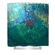 Kiss A Frog Shower Curtain