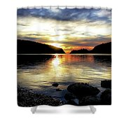 Kiss Of Sunset Shower Curtain