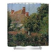 Kitchen Garden In Eragny, Afternoon, 1901 Shower Curtain